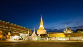 Wat Phra Mahathat Woramahawihan południowy Tajlandia Zdjęcie Royalty Free