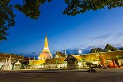 Wat Phra Mahathat Woramahawihan southern Thailand Royalty Free Stock Photography