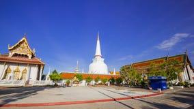 Wat Phra Mahathat Woramahawihan Tailandia meridional Fotos de archivo libres de regalías