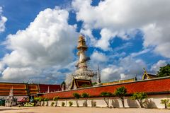 Wat Phra Mahathat Woramahawihan, the 8 walking Buddhas on top of. The Stupa Stock Photography