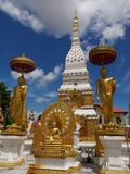 Wat phra that at Nakorn Phanom Thailand. Near the banks of the Mekong river in the village of That Phanom in Nakhon Phanom province lies one of the most highly Stock Photography