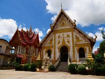 Wat phra that at Nakorn Phanom Thailand. Near the banks of the Mekong river in the village of That Phanom in Nakhon Phanom province lies one of the most highly Royalty Free Stock Photos