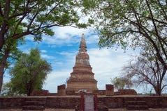 Wat Phra Ngam, Ayudhya省,泰国 免版税库存照片