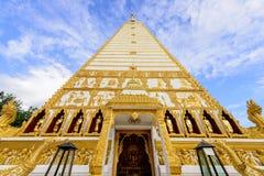 Wat Phra That Nong Bua na manhã em Ubon Ratchathani, Tailândia fotografia de stock