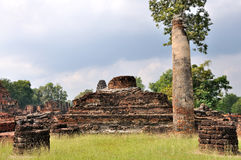 Ruined Temple at Wat Phra Pai Luang Royalty Free Stock Images