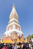 Wat Phra That Panom temple Nakhon Phanom, Thailand. Royalty Free Stock Photos