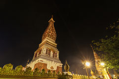 Wat Phra That Panom temple at night, Nakhon Phanom, Thailand. Stock Photography