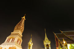 Wat Phra That Panom temple at night, Nakhon Phanom, Thailand. Royalty Free Stock Images
