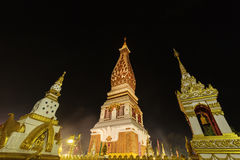 Wat Phra That Panom temple at night, Nakhon Phanom, Thailand. Stock Images