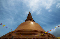 Wat Phra Pathom Chedi佛统最伟大的塔  库存照片