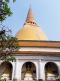 Wat Phra Pathom Chedi imagen de archivo libre de regalías