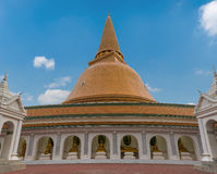 Wat Phra Pathom Chedi stupa Royalty Free Stock Images