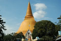 Wat Phra Pathom Chedi Temple, Thailand Royalty Free Stock Photos