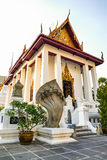 Wat Pathum Wanaram Temple. Beautiful building near the community Stock Images
