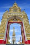 Wat Phra That Phanom alloggia lo stupa famoso che contiene l'osso di seno del ` s di Buddha nella provincia di Nakhon Phanom, Tai Immagine Stock Libera da Diritti