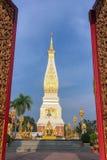 Wat Phra That Phanom Markstein von Thailand stockfoto