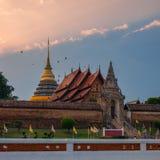 Wat Phra quel tempio di Lampang Luang Fotografia Stock