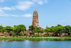 Wat Phra Ram在阿尤特拉利夫雷斯历史公园,泰国 免版税库存照片