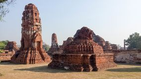 Wat Phra Ram寺庙在Ayuthaya历史公园,泰国 宗教,目的地 免版税库存照片