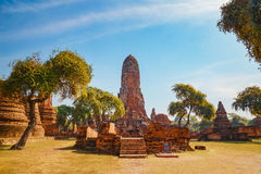 Wat Phra Ram寺庙在Ayuthaya历史公园,泰国 免版税库存图片