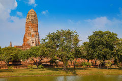 Wat Phra Ram寺庙在Ayuthaya历史公园,泰国 库存照片