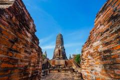 Wat Phra Ram寺庙在Ayuthaya历史公园,泰国 库存图片