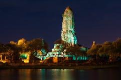 Wat Phra Ram en la noche Fotos de archivo