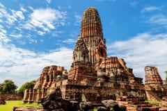Wat Phra Ram i historiska Ayutthaya parkerar, Thailand Royaltyfria Foton