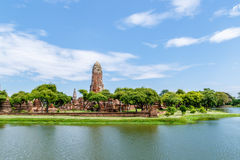 Wat Phra Ram i historiska Ayutthaya parkerar, Thailand Arkivfoton