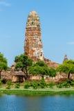 Wat Phra Ram i historiska Ayutthaya parkerar, Thailand Royaltyfri Bild