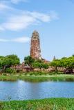 Wat Phra Ram i historiska Ayutthaya parkerar, Thailand Fotografering för Bildbyråer