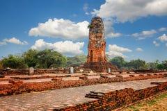 Wat Phra Ram im Komplex des buddhistischen Tempels in Ayutthaya nahe Bangkok thailand Lizenzfreie Stockfotos