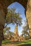 Wat Phra Ram. Shoot at the out door stock image