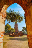 Wat Phra Ram Temple en el parque histórico de Ayuthaya, Tailandia Fotos de archivo