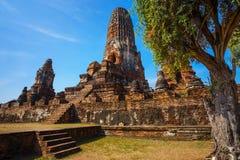 Wat Phra Ram Temple en el parque histórico de Ayuthaya, Tailandia Foto de archivo libre de regalías