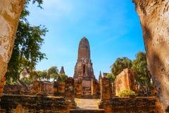 Wat Phra Ram Temple en el parque histórico de Ayuthaya, Thaialnd Imagen de archivo
