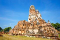Wat Phra Ram Temple in het Historische Park van Ayuthaya, Thaialnd Stock Foto's