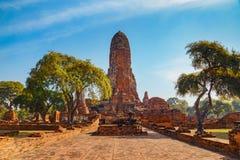 Wat Phra Ram Temple in het Historische Park van Ayuthaya, Thaialnd Royalty-vrije Stock Foto's