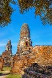 Wat Phra Ram Temple in het Historische Park van Ayuthaya, Thaialnd Royalty-vrije Stock Fotografie