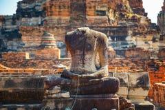 Wat Phra Ram Temple in het Historische Park van Ayuthaya, Thaialnd Stock Afbeelding