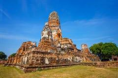 Wat Phra Ram Temple in het Historische Park van Ayuthaya, Thailand Stock Foto