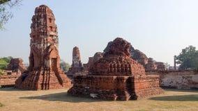 Wat Phra Ram Temple in het Historische Park van Ayuthaya, Thailand Godsdienst, bestemming royalty-vrije stock foto's