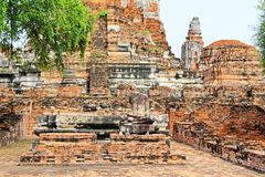 Wat Phra Ram, Ayutthaya, Thailand. Wat Phra Ram was built sometime between 1369 and 1434 on the cremation site of the first King of Ayutthaya. In 1991, part of royalty free stock image