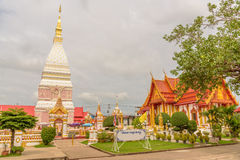 Wat Phra That Renu Nakhon-tempel Royalty-vrije Stock Afbeelding