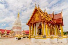 Wat Phra That Renu Nakhon-tempel Stock Foto's