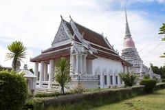 Wat Phra Samut Chedi寺庙在萨穆特Prakan,泰国 图库摄影