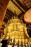 Wat Phra That Si Chom-Leren riem Stock Foto's