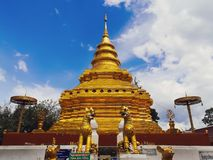 Wat Phra That Si Chom-Zapfen lizenzfreie stockfotografie