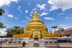 Wat Phra That Si Jom läderrem Royaltyfri Foto