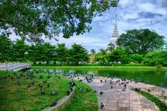 Wat Phra Si Mahathat Bang Khen immagine stock libera da diritti